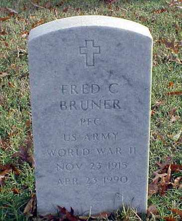 BRUNER (VETERAN WWII), FRED C - Pulaski County, Arkansas | FRED C BRUNER (VETERAN WWII) - Arkansas Gravestone Photos