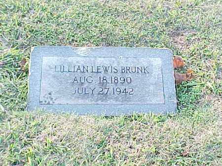 LEWIS BRUNK, LILLIAN - Pulaski County, Arkansas | LILLIAN LEWIS BRUNK - Arkansas Gravestone Photos