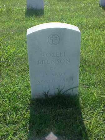 BRUNSON (VETERAN WWI), ROZELL - Pulaski County, Arkansas | ROZELL BRUNSON (VETERAN WWI) - Arkansas Gravestone Photos