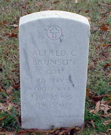 BRUNSON (VETERAN WWII), ALFRED C - Pulaski County, Arkansas | ALFRED C BRUNSON (VETERAN WWII) - Arkansas Gravestone Photos
