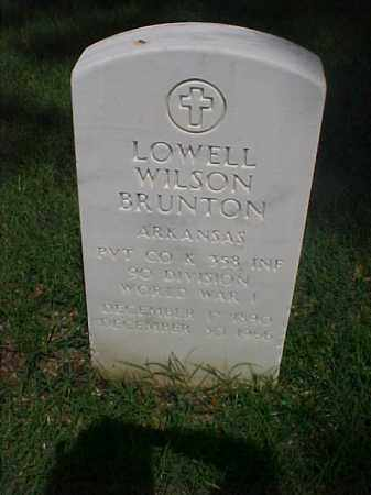 BRUNTON (VETERAN WWI), LOWELL WILSON - Pulaski County, Arkansas | LOWELL WILSON BRUNTON (VETERAN WWI) - Arkansas Gravestone Photos