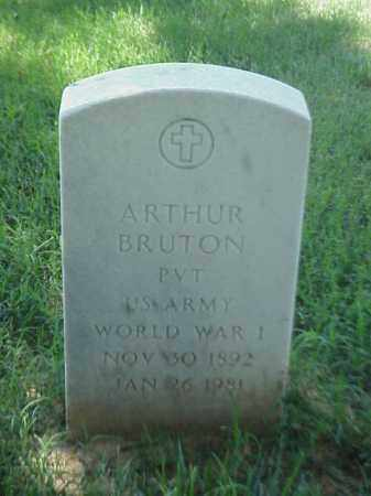 BRUTON (VETERAN WWI), ARTHUR - Pulaski County, Arkansas | ARTHUR BRUTON (VETERAN WWI) - Arkansas Gravestone Photos
