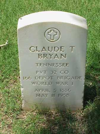 BRYAN (VETERAN WWI), CLAUDE T - Pulaski County, Arkansas | CLAUDE T BRYAN (VETERAN WWI) - Arkansas Gravestone Photos