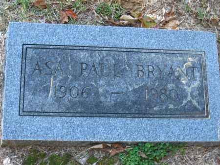 BRYANT, ASA PAUL - Pulaski County, Arkansas | ASA PAUL BRYANT - Arkansas Gravestone Photos