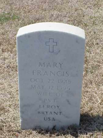 BRYANT, MARY FRANCIS - Pulaski County, Arkansas | MARY FRANCIS BRYANT - Arkansas Gravestone Photos