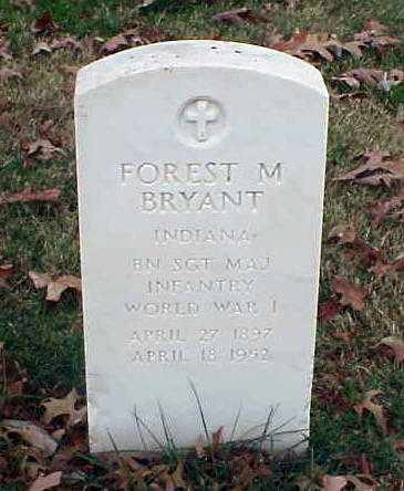 BRYANT (VETERAN WWI), FOREST M - Pulaski County, Arkansas | FOREST M BRYANT (VETERAN WWI) - Arkansas Gravestone Photos