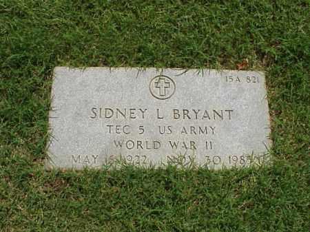 BRYANT (VETERAN WWII), SIDNEY L - Pulaski County, Arkansas | SIDNEY L BRYANT (VETERAN WWII) - Arkansas Gravestone Photos