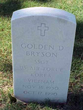 BRYSON (VETERAN 2 WARS), GOLDEN D - Pulaski County, Arkansas | GOLDEN D BRYSON (VETERAN 2 WARS) - Arkansas Gravestone Photos