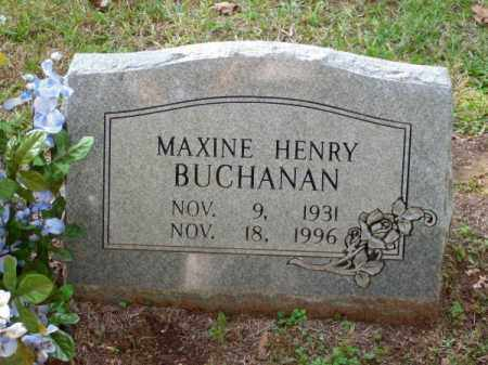 HENRY BUCHANAN, MAXINE - Pulaski County, Arkansas | MAXINE HENRY BUCHANAN - Arkansas Gravestone Photos