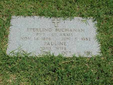 BUCHANAN (VETERAN), STERLING - Pulaski County, Arkansas | STERLING BUCHANAN (VETERAN) - Arkansas Gravestone Photos