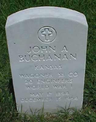 BUCHANAN (VETERAN WWI), JOHN A - Pulaski County, Arkansas | JOHN A BUCHANAN (VETERAN WWI) - Arkansas Gravestone Photos