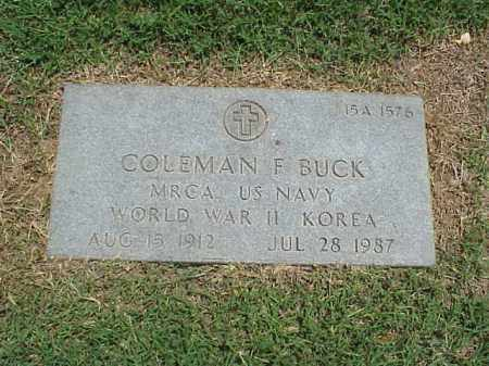 BUCK (VETERAN 2 WARS), COLEMAN F - Pulaski County, Arkansas | COLEMAN F BUCK (VETERAN 2 WARS) - Arkansas Gravestone Photos