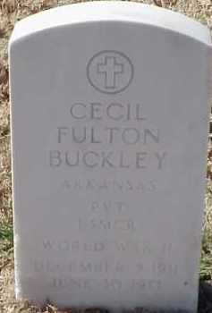 BUCKLEY  (VETERAN WWII), CECIL FULTON - Pulaski County, Arkansas | CECIL FULTON BUCKLEY  (VETERAN WWII) - Arkansas Gravestone Photos