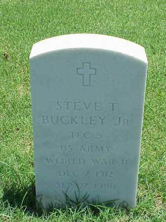 BUCKLEY, JR (VETERAN WWII), STEVE T - Pulaski County, Arkansas | STEVE T BUCKLEY, JR (VETERAN WWII) - Arkansas Gravestone Photos