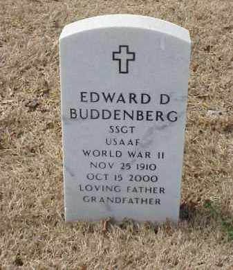 BUDDENBERG  (VETERAN WWII), EDWARD D - Pulaski County, Arkansas | EDWARD D BUDDENBERG  (VETERAN WWII) - Arkansas Gravestone Photos