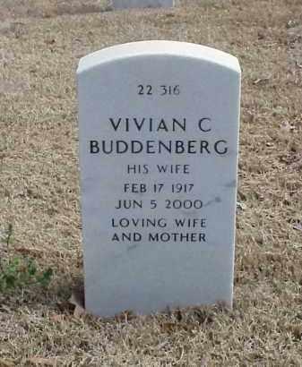 BUDDENBERG, VIVIAN C - Pulaski County, Arkansas | VIVIAN C BUDDENBERG - Arkansas Gravestone Photos