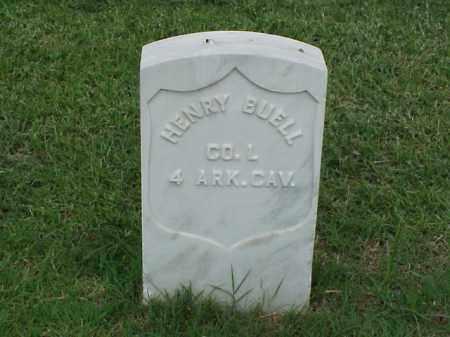 BUELL (VETERAN UNION), HENRY - Pulaski County, Arkansas   HENRY BUELL (VETERAN UNION) - Arkansas Gravestone Photos