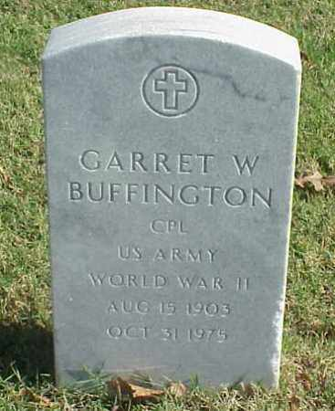 BUFFINGTON (VETERAN WWII), GARRET W - Pulaski County, Arkansas | GARRET W BUFFINGTON (VETERAN WWII) - Arkansas Gravestone Photos