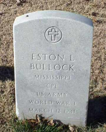 BULLOCK (VETERAN WWI), ESTON L - Pulaski County, Arkansas | ESTON L BULLOCK (VETERAN WWI) - Arkansas Gravestone Photos
