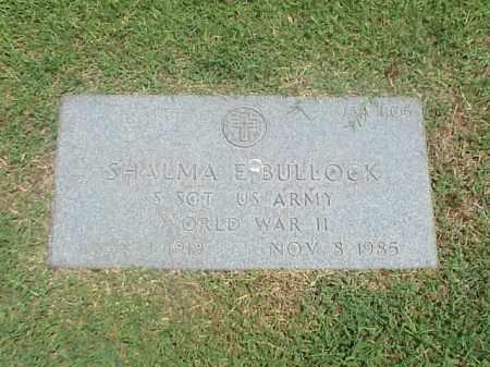 BULLOCK (VETERAN WWII), SHALMA E - Pulaski County, Arkansas | SHALMA E BULLOCK (VETERAN WWII) - Arkansas Gravestone Photos
