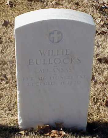 BULLOCKS (VETERAN WWI), WILLIE - Pulaski County, Arkansas | WILLIE BULLOCKS (VETERAN WWI) - Arkansas Gravestone Photos
