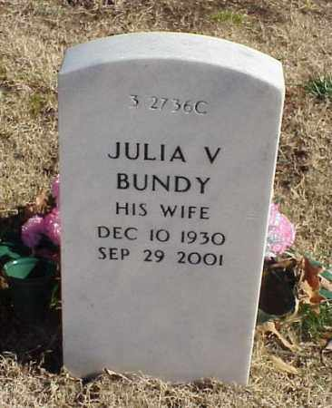 BUNDY, JULIA V - Pulaski County, Arkansas | JULIA V BUNDY - Arkansas Gravestone Photos