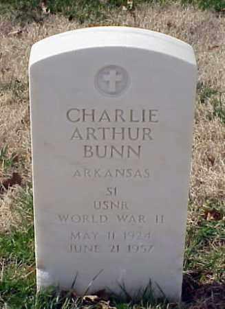 BUNN (VETERAN WWII), CHARLIE ARTHUR - Pulaski County, Arkansas | CHARLIE ARTHUR BUNN (VETERAN WWII) - Arkansas Gravestone Photos