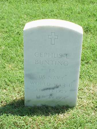 BUNTING (VETERAN WWII), CEPHUS L - Pulaski County, Arkansas | CEPHUS L BUNTING (VETERAN WWII) - Arkansas Gravestone Photos