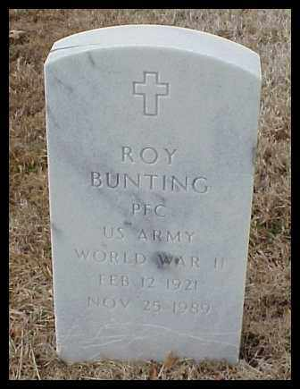 BUNTING (VETERAN WWII), ROY - Pulaski County, Arkansas | ROY BUNTING (VETERAN WWII) - Arkansas Gravestone Photos