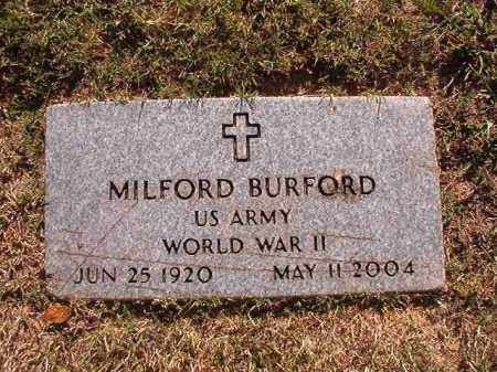 BURFORD (VETERAN WWII), MILFORD - Pulaski County, Arkansas | MILFORD BURFORD (VETERAN WWII) - Arkansas Gravestone Photos