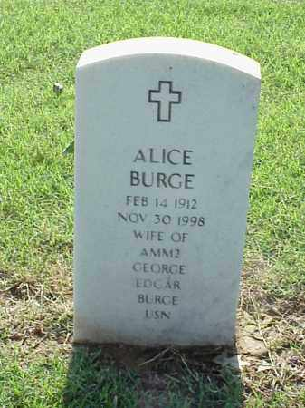 BURGE, ALICE - Pulaski County, Arkansas | ALICE BURGE - Arkansas Gravestone Photos