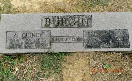 BURGIN, FLORENCE M. - Pulaski County, Arkansas | FLORENCE M. BURGIN - Arkansas Gravestone Photos