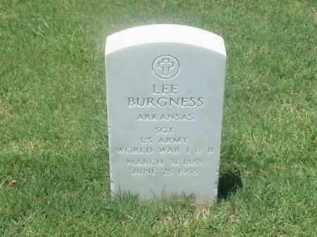 BURGNESS (VETERAN 2 WARS), LEE - Pulaski County, Arkansas | LEE BURGNESS (VETERAN 2 WARS) - Arkansas Gravestone Photos