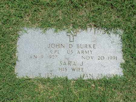BURKE, SARA J. - Pulaski County, Arkansas | SARA J. BURKE - Arkansas Gravestone Photos