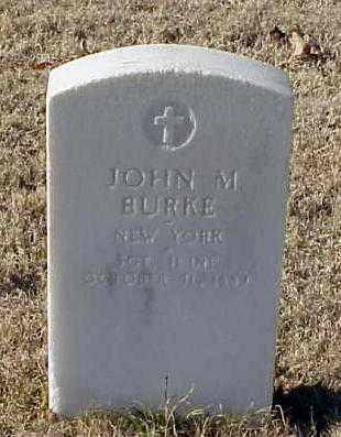 BURKE (VETERAN UNION), JOHN M - Pulaski County, Arkansas | JOHN M BURKE (VETERAN UNION) - Arkansas Gravestone Photos