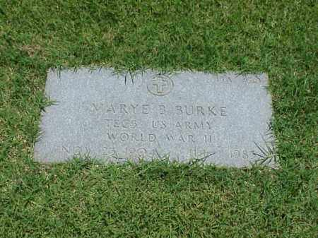 BURKE (VETERAN WWII), MARYE B - Pulaski County, Arkansas | MARYE B BURKE (VETERAN WWII) - Arkansas Gravestone Photos