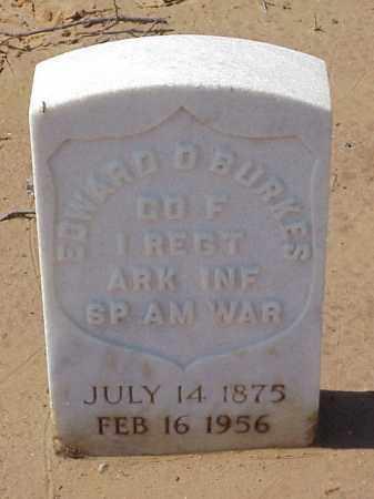 BURKES  (VETERAN SAW), EDWARD D - Pulaski County, Arkansas | EDWARD D BURKES  (VETERAN SAW) - Arkansas Gravestone Photos