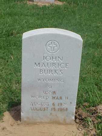 BURKS (VETERAN WWII), JOHN MAURICE - Pulaski County, Arkansas | JOHN MAURICE BURKS (VETERAN WWII) - Arkansas Gravestone Photos