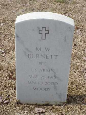 BURNETT  (VETERAN), M W - Pulaski County, Arkansas | M W BURNETT  (VETERAN) - Arkansas Gravestone Photos