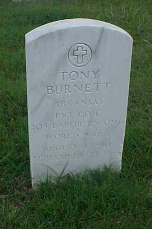 BURNETT (VETERAN WWI), TONY - Pulaski County, Arkansas | TONY BURNETT (VETERAN WWI) - Arkansas Gravestone Photos
