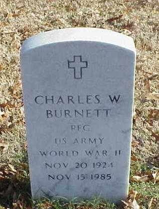BURNETT (VETERAN WWII), CHARLES W - Pulaski County, Arkansas | CHARLES W BURNETT (VETERAN WWII) - Arkansas Gravestone Photos