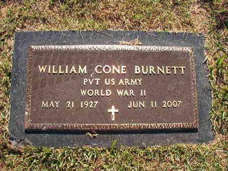 BURNETT (VETERAN WWII), WILLIAM CONE - Pulaski County, Arkansas | WILLIAM CONE BURNETT (VETERAN WWII) - Arkansas Gravestone Photos