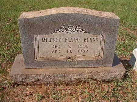 BURNS, MILDRED ELAINE - Pulaski County, Arkansas | MILDRED ELAINE BURNS - Arkansas Gravestone Photos