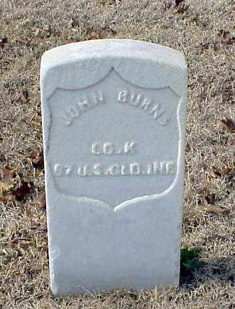 BURNS (VETERAN UNION), JOHN - Pulaski County, Arkansas | JOHN BURNS (VETERAN UNION) - Arkansas Gravestone Photos