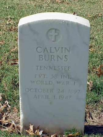 BURNS (VETERAN WWI), CALVIN - Pulaski County, Arkansas | CALVIN BURNS (VETERAN WWI) - Arkansas Gravestone Photos