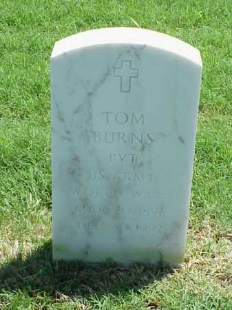 BURNS (VETERAN WWI), TOM - Pulaski County, Arkansas | TOM BURNS (VETERAN WWI) - Arkansas Gravestone Photos