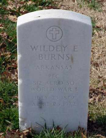 BURNS (VETERAN WWI), WILDEY E - Pulaski County, Arkansas | WILDEY E BURNS (VETERAN WWI) - Arkansas Gravestone Photos