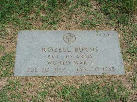 BURNS (VETERAN WWII), ROZELL - Pulaski County, Arkansas | ROZELL BURNS (VETERAN WWII) - Arkansas Gravestone Photos