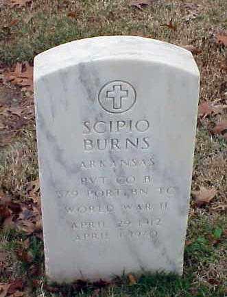 BURNS (VETERAN WWII), SCIPIO - Pulaski County, Arkansas | SCIPIO BURNS (VETERAN WWII) - Arkansas Gravestone Photos