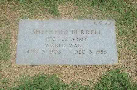 BURRELL (VETERAN WWII), SHEPHERD - Pulaski County, Arkansas | SHEPHERD BURRELL (VETERAN WWII) - Arkansas Gravestone Photos